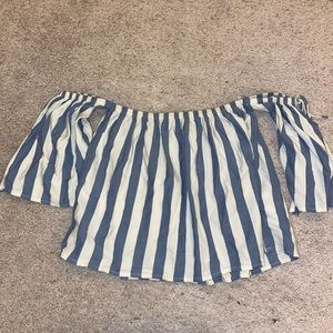 Striped crop blouse